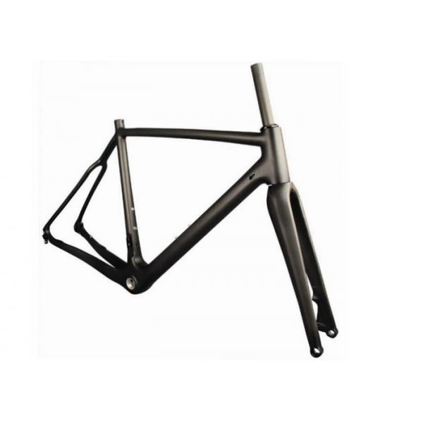 Buy 700C Carbon Cyclocross Bike Frames Thru Axel 142MM*12MM With Disc Brake at wholesale prices