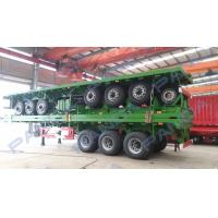 China PANDA New Design 3-axle 20ft 40ft flatbed container truck trailer on sale