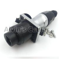 Buy cheap Round Ethernet Waterproof RJ45 Connector Female And Male Gender 500V Rated from wholesalers