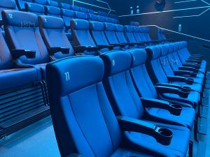 Quality Modern 4D Cinema Motion Seats Leather Chair Pneumatic / Electronic Effects for sale