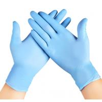 Quality High Strength Nitrile Work Gloves Excellent Tactile Sensitivity Punctures resistance for sale