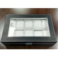 Quality MDF Covered Leather Mens Watch Display Case , Watch Collection Box 10 Slots for sale
