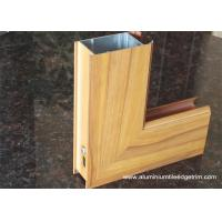 Quality Aluminium Side - hinged Door Extrusion Profile Wood Grain Effect for sale
