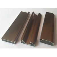 Quality Anti Rust Aluminum Cabinet Door Extrusion / Frame Extrusions Coffee Color for sale