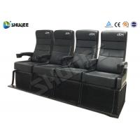 Quality Safety 4D Movie Theater With Pure Hand - Wrapped PU Leather Motion Seats for sale