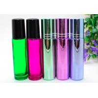 Quality  Perfume Empty Roll On Bottle 10ml Amber Glass With Metal Roller Ball for sale