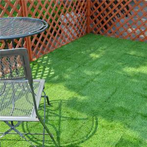 Quality Outdoor Garden Decoration joint Tile Interlocking Artificial Grass deck Tile for sale
