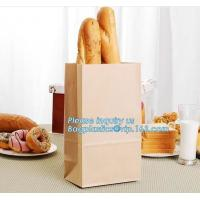 China Cheap customized cute bread coffee kraft paper bag craft paper bags for gift,Food grade christmas bread bag,hot sale pap on sale