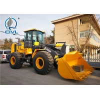 Quality ZL50GN Grasping Grass Heavy Construction Machinery , 4500kg Xcmg Wheel Loader With 3m3 Bucket for sale
