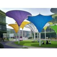 Quality Colorful Tensile Fabric Structures , Roof Shade Structures For Park Shade Metal Frame for sale