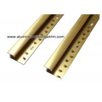 Buy cheap Versatile Shiny Gold Aluminum Carpet Trim For Ceramic Tile To Carpet Transition from wholesalers