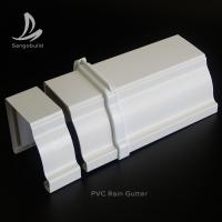 Quality Rectangular PVC Rain water Guttes Factory Wholesale Price UV Resistant Plastic PVC roof rain gutter aluminum rain gutter for sale