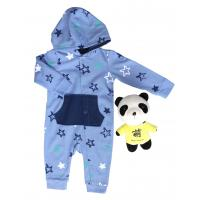 Buy cheap Windproof Solid Long Sleeve Onesies Skin Friendly With Cuff 65% Cotton 35% from wholesalers