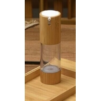 Quality eco friendly cosmetic containers 15g 30g 50g cosmetic jar 100ml bamboo spray bottle with bamboo cap for sale
