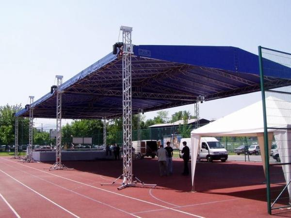 Buy Advertising Ladder Trade Show Truss , Simple Folding International Truss Systems at wholesale prices