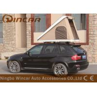 Buy cheap Triangle Hard Shell Fiberglass Automatic Roof Top Tent , Roof Rack Pop Up Tent from wholesalers