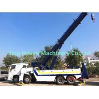Quality White HOWO 30 TON Wrecker Tow Truck / Diesel Obstacle Trucks for sale