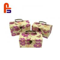 Buy cheap Flowery Suitcase Big Cardboard Boxes CMYK Color Cardboard Storage Boxes from wholesalers