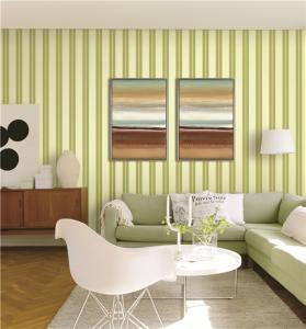 Quality 70cm width fireproof waterproof mould proof stripe styles PVC vinyl wallpaper for sale