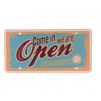 China Come in we are Open Store Metal Signs Poster Bar Garage Cafe Door Wall Poster Plates Retro Plaque on sale