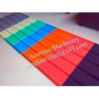 Quality UPVC low cost,durable,easy stallation,round wave+trapezoid roof tile/sheet production line for sale