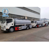 Quality 380HP 4X2 Oil Tanker Trailer in Red , 15000L Fuel Tanker Truck EURO II Refueling Oil Tanker Truck with Dispenser for sale