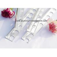 Buy cheap Polished Aluminium Chrome / Silver Tile Trim 10mm With Quarter Rounded Corner from wholesalers
