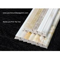 Quality Solid Marble Effect Tile Corner Trim / 12mm Inside Height Quarter Round Tile Trim for sale