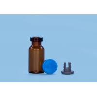 Quality Shockproof Rubber Stopper Steroid 3 ml Glass Medical Vials for sale