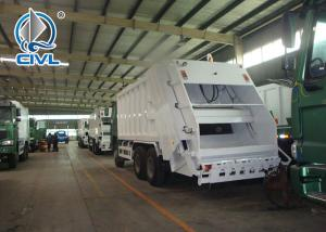 Quality New Garbage Truck 400 L Fuel Tank Garbage Compactor Truck With 4 - Stroke Direct Injection Diesel Engine for sale