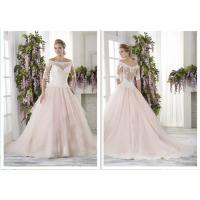 Faultless Ball Gown Style Wedding Dresses With Sleeves Romantic Trailing Design
