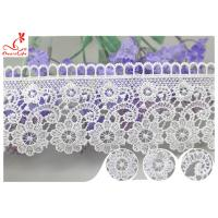 Buy cheap Embroidered Flower Guipure Polyester Lace Trim For Dress DTM Azo Free Dyeing from wholesalers