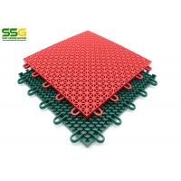 Buy cheap Suspended Outdoor Interlocking Rubber Floor Tiles , Basketball Plastic Sport from wholesalers