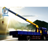 Quality Lifting 3200KG Hydraulic Truck Mounted Cranes / Service Truck Crane Truck-mounted crane with telescopic boom for sale