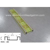 Quality Aluminium Alloy Mosaic Border Tiles Sheets Brushed Surface Easy Installation for sale