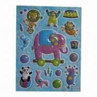 Quality 3-D PVC Stickers with Removable Glue, Empty Inside but Embossed, Eco-friendly for sale
