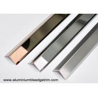 Quality Collision - Resistant Stainless Steel Corner Guards With 90° Right Angle / Metal Wall Edge Protector for sale