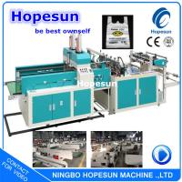 Buy cheap LLDPE Plastic Bag Making Machine / T Shirt Shopping Bag Manufacturing Machine from wholesalers