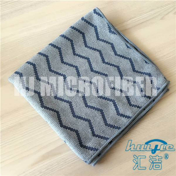 Buy Microfiber Cleaning Cloth 40*40cm square piped w-style jacquard household knitted cleaning towel at wholesale prices