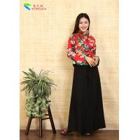 Quality Comfortable Chinese Cheongsam Blouse Cotton Linen Long Sleeve Tang Suit for sale