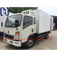 Quality 4x2 Euroii 6 Tires Howo 7000kg Light Cooler Tank Truck With Yunnei Engine And Triangle Tire for sale