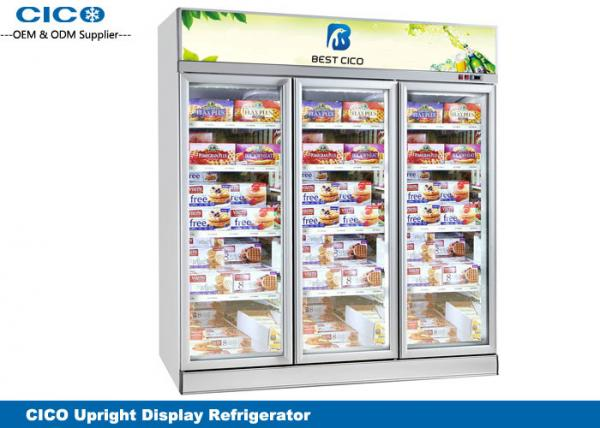 Buy Integrated Upright Display Refrigerator , Upright Glass Door Refrigerator at wholesale prices