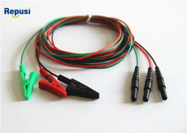 Buy Reusable Alligator Clip Leads wire in neurology area singles with colors green at wholesale prices