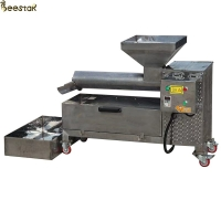 Quality Seperting Beeswax Screw 50kg/H Honey Press Machine 304 Stainless Steel for sale