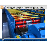 Quality Colored Steel Trapezoidal Decking Tile Making Machine With Hydraulic Post Cutting for sale