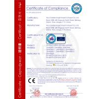 WUXI HUANAWELL METAL MANUFACTURING CO., LTD Certifications