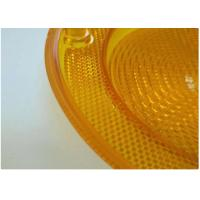 Quality Yellow Car Plastic Molding Lamp Lens Cases , Hot Runner Injection Auto Parts for sale