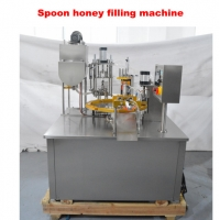 Quality PLC Control AC 380V Automatic Honey Spoon Filling Machine for sale