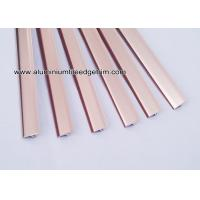 Buy cheap Shiny Rose Gold Aluminium T Shaped Tile Edging / Decor Trim 14mm from wholesalers