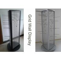 Buy cheap Rotating Triangle Wire Grid Display Stands / Grid Panel Iron Display Rack from wholesalers
